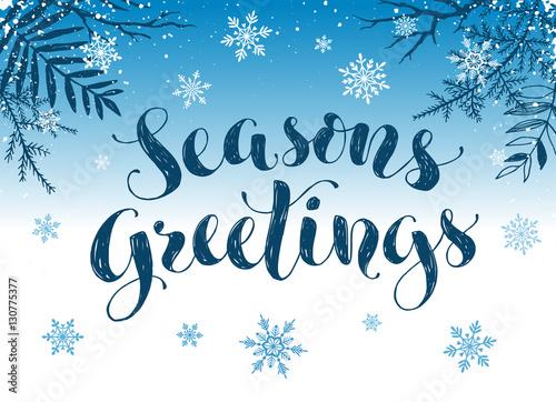 Happy holidays postcard template Modern New Year lettering with - happy holidays and new year greetings