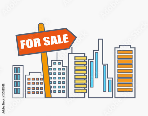 House for sale real estate market analysis concept - Buy this stock
