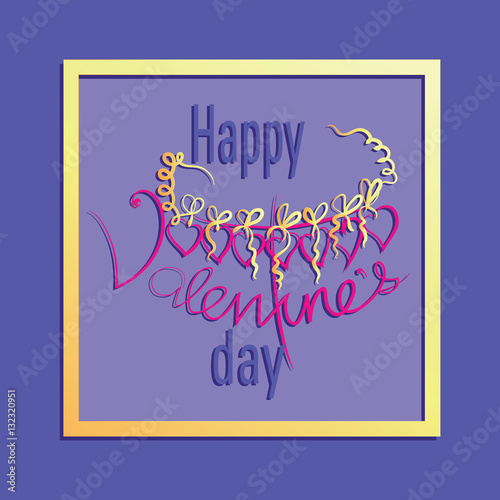 Frame for Valentine`s Day Vector Image Design congratulations