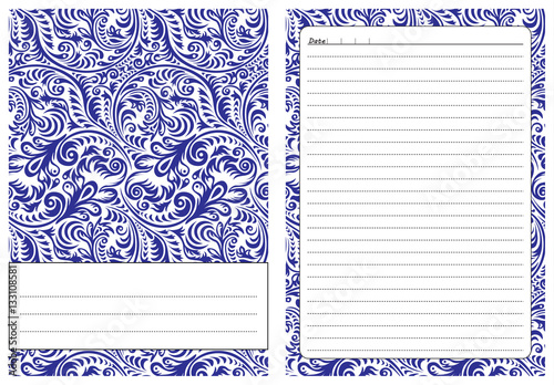 Set of pages template for daily planner Printable, for scrapbooking