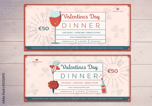 Valentine\u0027s Day Restaurant Voucher Layout Buy this stock template - Lunch Voucher Template