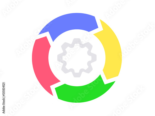 Infographics, cycle circle diagram, 4 steps Illustrate your