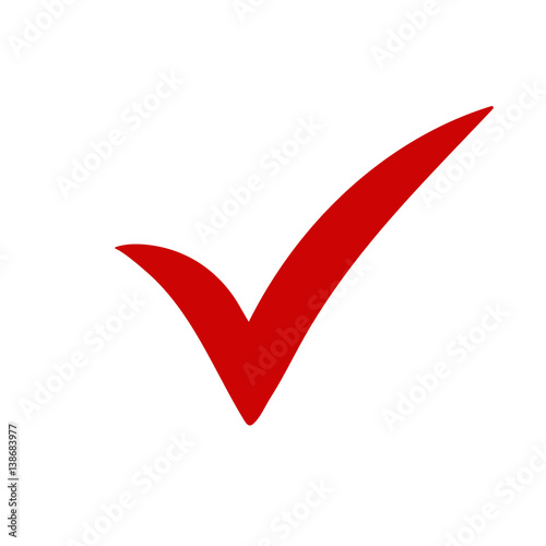 Vink Groen Red Tick. Red Check Mark. Tick Symbol, Icon, Sign In Red
