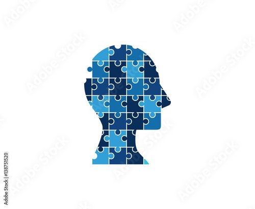 Puzzle mind logo - Buy this stock vector and explore similar vectors