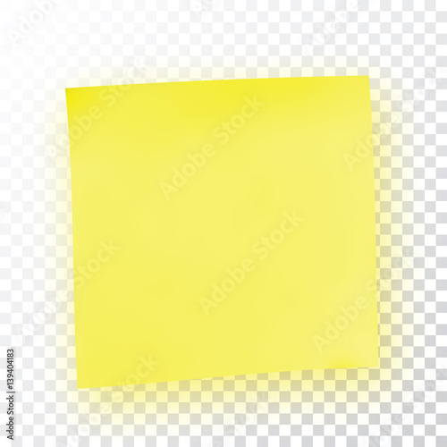 Yellow sticky note Template for your projects Sticker - Buy this