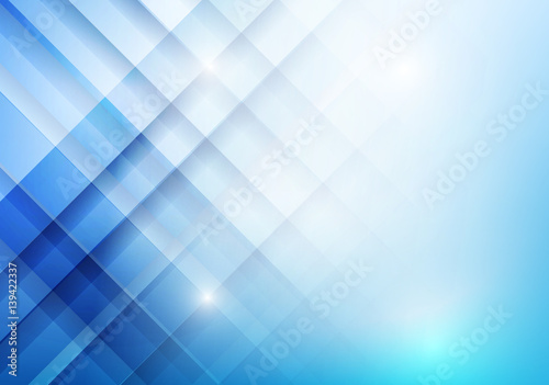 Abstract blue background with basic geometry overlaps and layered