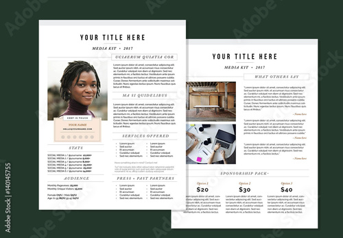 Modern Media Kit Layout Buy this stock template and explore similar
