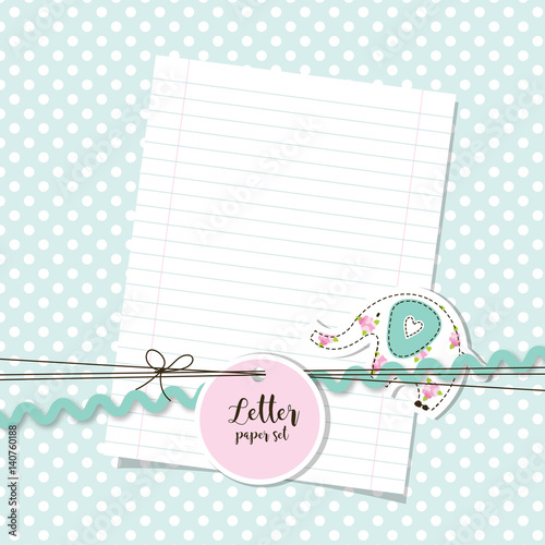 Letter paper set Message Thank you letter paper background