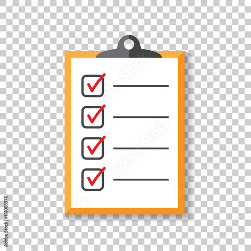 To do list icon Checklist, task list vector illustration in flat
