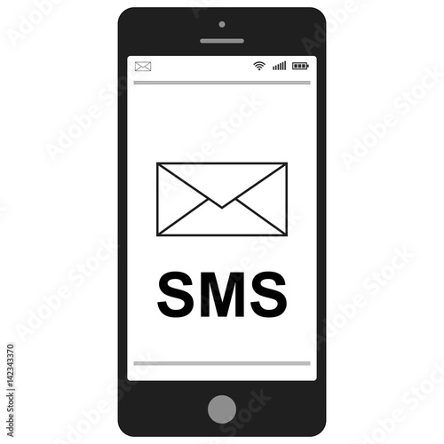 Short Message Service SMS mobile phone - Buy this stock vector and