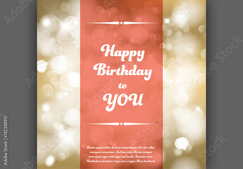 Bright Lights Birthday Card Layout Buy this stock template and - birthday card layout