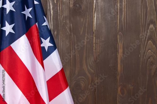 American flag wooden backgroundThe Flag Of The United States Of