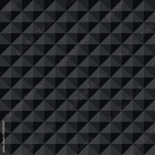Seamless black abstract geometric dark shadow facet pattern - Buy - Facet Design Pattern