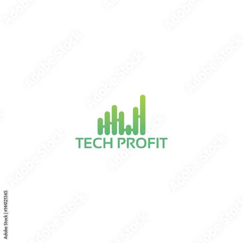 modern Technology Chart Logo template designs, modern Sound wave