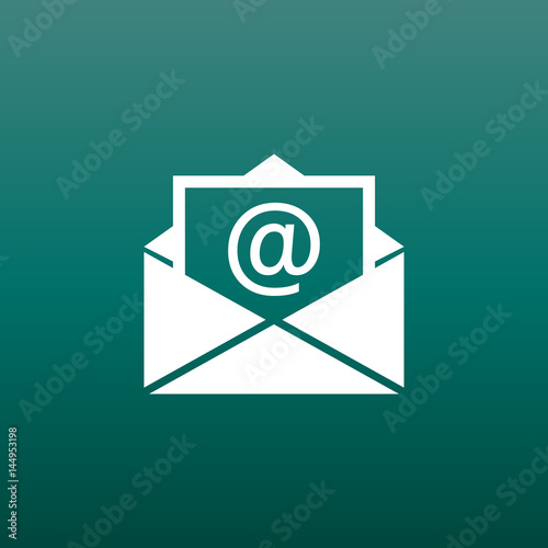 Mail envelope icon vector isolated on green background Symbols of - mail background