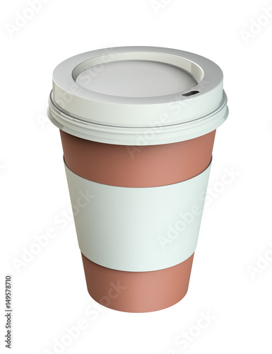 Plastic coffee cup templates, isolated - Buy this stock illustration