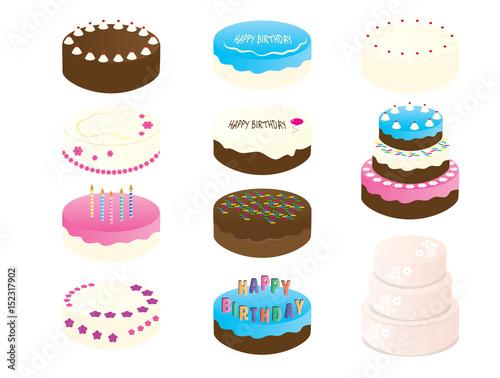 Birthday Cake Clipart - 11 Cake Illustration - wedding Cake digital