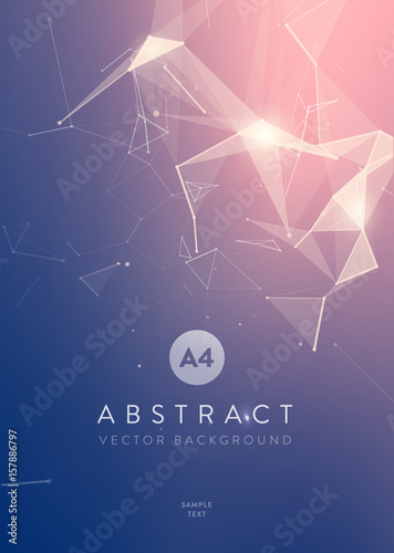 3D Abstract Mesh Background with Circles, Lines and triangular