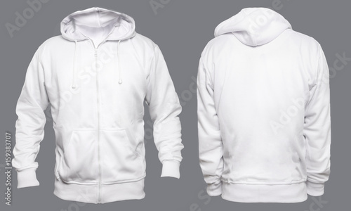 Blank sweatshirt mock up template, front, and back view, isolated on
