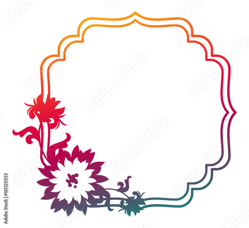 Beautiful gradient frame Color silhouette frame for advertisements - frame for cards