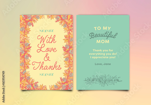 Floral Birthday Card Layout 1 Buy this stock template and explore