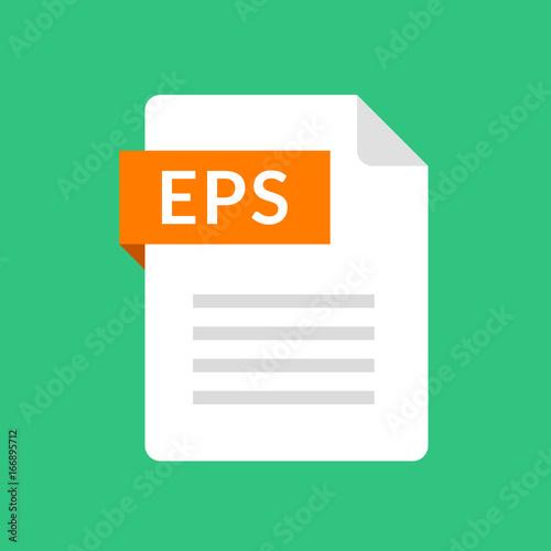 EPS file icon Encapsulated PostScript document type Flat design