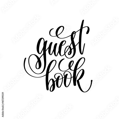 guest book hand lettering romantic quote - Buy this stock vector and