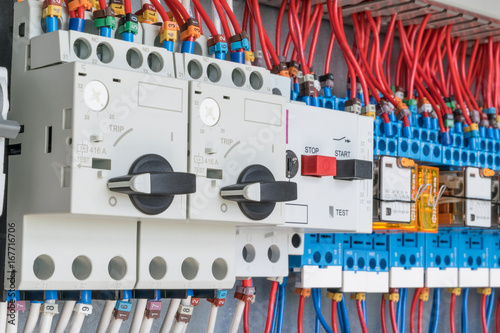 n the electrical control panel are circuit breakers protecting the