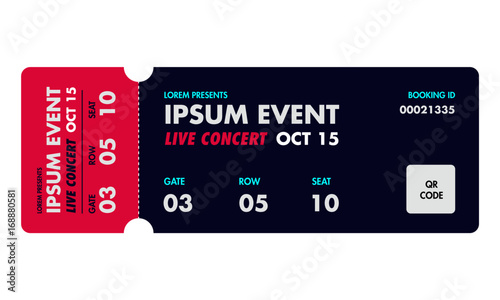 Concert ticket template Music, Dance, Live Event Ticket for