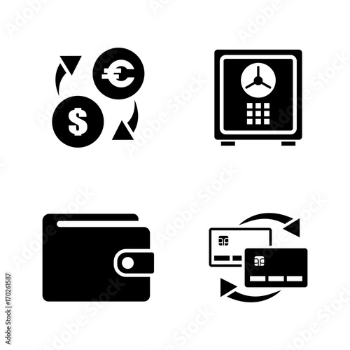 Personal Finance Simple Related Vector Icons Set for Video, Mobile