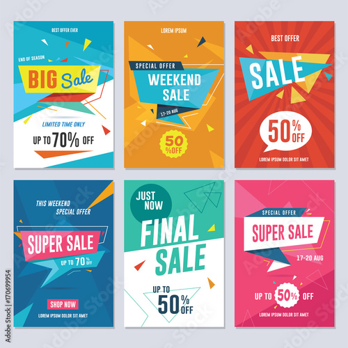 Sale, discount and promotion flyer / banner template Vector