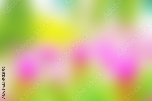 Abstract blur pink green yellow color background wallpaper brochure