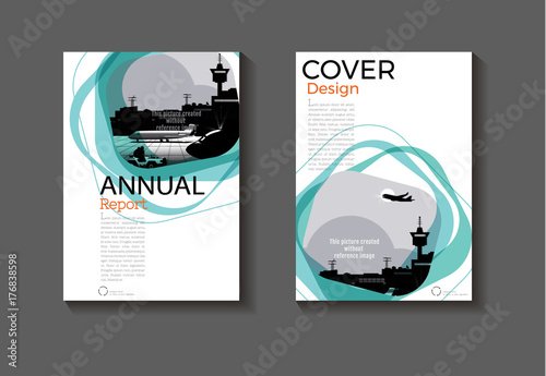 Emerald green modern cover design modern book cover abstract - emerald flyer template