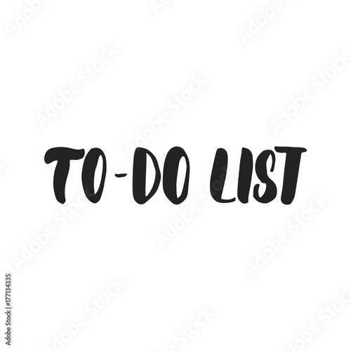 To-do List - hand drawn lettering inscription for Christmas and New