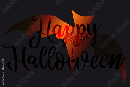 Happy Halloween lettering Background for banners, posters, greeting