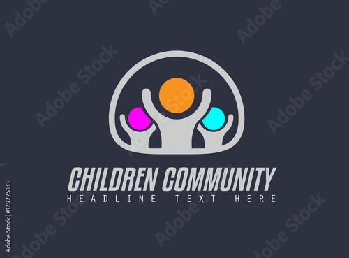 Creative Children Community Logo design for brand identity, company
