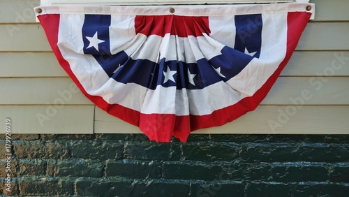 A half circle bunting flag of the United States of America - Buy