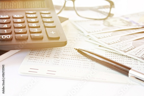 Business, finance, investment, accounting or money exchange concept