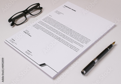 Minimalist Letterhead Layout 1 Buy this stock template and explore - letterhead layout