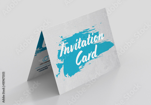 Folded Invitation Card Layout 1 Buy this stock template and explore