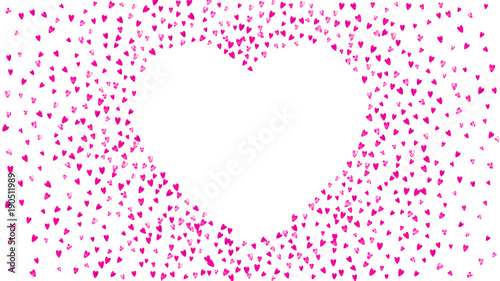 Valentines day card with pink glitter hearts February 14th Vector