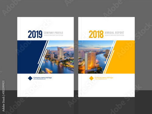 Corporate cover design for annual report and company profile - sample business brochure