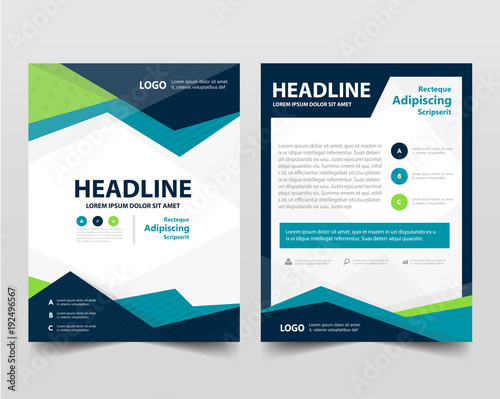pamphlet leaflet business template layout flyer - Buy this stock - pamphlet layout template