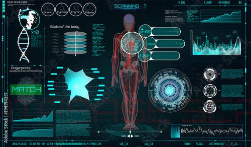 3d Hologram Wallpaper App Head Up Display Hud Ui For Medical App Futuristic