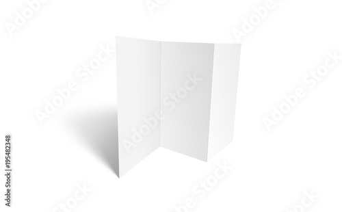 Tri-fold brochure mock-up Blank brochure white template paper on