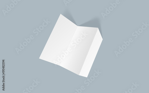 Tri-fold brochure mock-up Blank brochure white template paper on - blank brochure