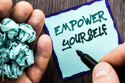 Announcement text showing Empower Yourself Business concept for