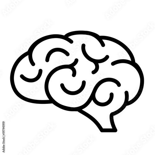 Human brain vector icon - Buy this stock vector and explore similar