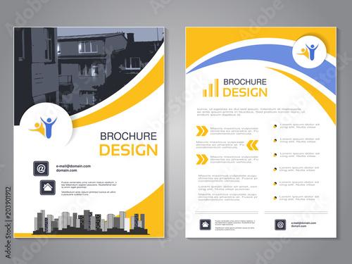 Vector modern brochure design, abstract flyer with background of - modern brochure design