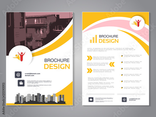 Vector modern brochure design, abstract flyer with background of